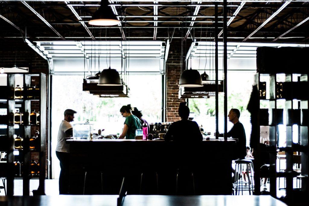 Imagem de um restaurante.
